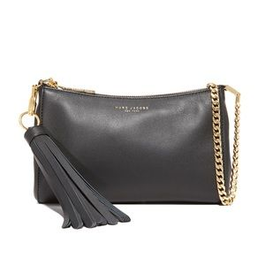 Marc Jacobs Black Leather Rue Cross Body Bag